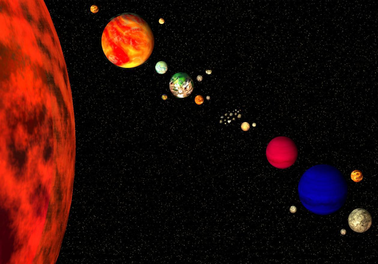 realistic solar system from above - photo #35