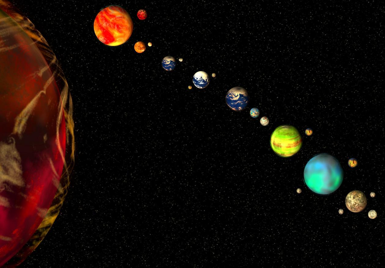 realistic solar system from above-#8