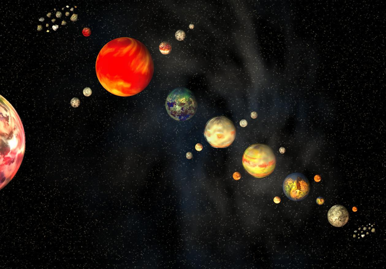 realistic solar system from above - photo #1