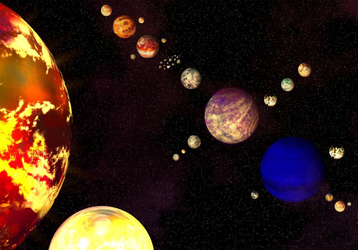 realistic solar system from above - photo #12