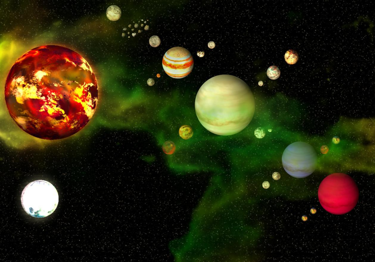 realistic solar system from above - photo #6
